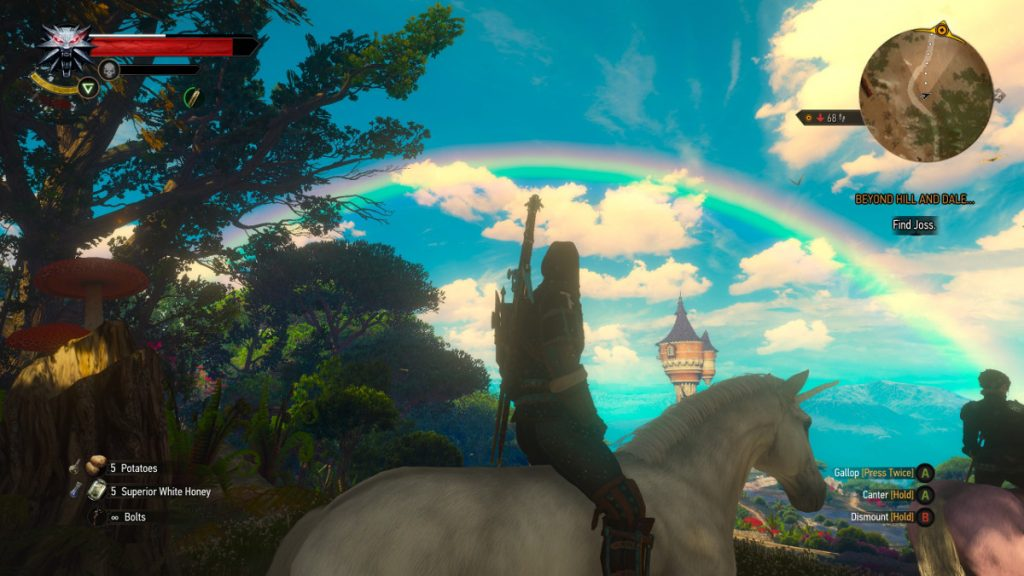 Geralt and Rainbow - Touissant